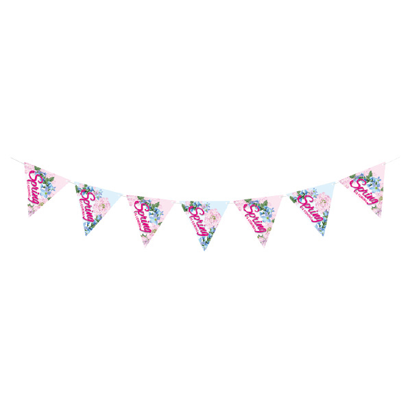 【まとめ買い10個セット品】 Spring is coming 7連フラッグ1本 【桜 サクラ さくら 春 飾り イベント 装飾】