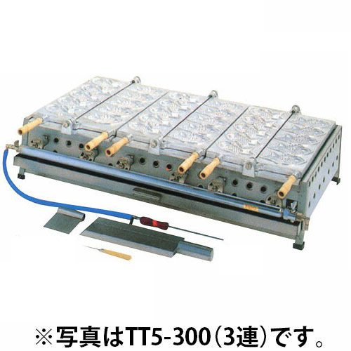 業務用 半自動たい焼き器 2連 12個焼タイプ TT6-200 【 メーカー直送/代引不可 】 【 業務用