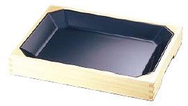 メラミン惣菜盆(木枠付) 黒 メイチョー