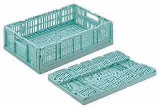 【まとめ買い10個セット品】【 コンテナ 】 卵パック用折りたたみコンテナ RS-M615 【20P05Dec15】 メイチョー