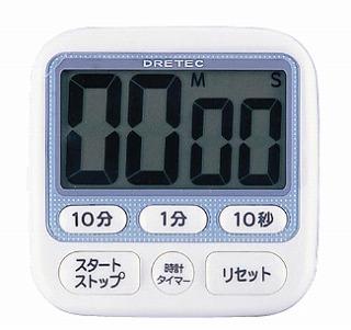 【まとめ買い10個セット品】時計付大画面タイマー T-140BL(99分50秒計) メイチョー