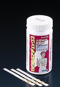 【まとめ買い10個セット品】水質検査試験紙 アクアチェック3[100枚入] メイチョー