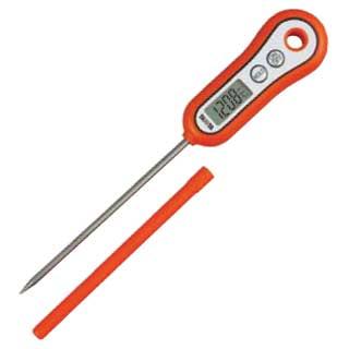 【まとめ買い10個セット品】『 温度計 温度センサータイプ 温度計 料理用 デジタル 』デジタル料理用スティック温度計 TT-533[オレンジ]