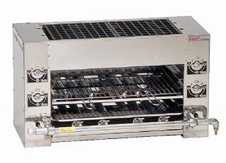 『 焼き物器 グリラー 』ガス式 両面式焼物器 KF-W LPガス【 メーカー直送/代金引換決済不可 】