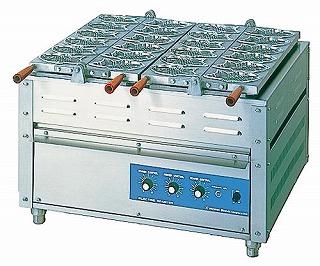 電気重ね合わせ式焼物器NG-3[3連式] たこ焼 【 メーカー直送/後払い決済不可 】 【 業務用 】 【 送料無料 】【 饅頭焼き機 】 メイチョー