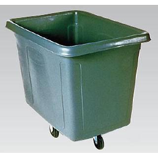 『 ゴミ箱 ゴミ収集コンテナ 』ラバーメイド キューブトラック No.4608[ブラック]【 メーカー直送/後払い決済不可 】