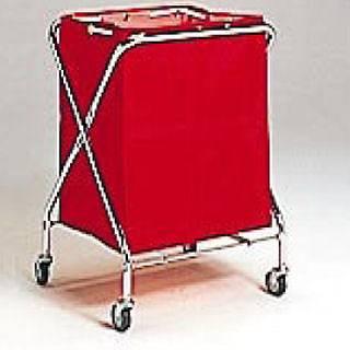 BM ダストカー 大 赤 【 業務用 】 【 送料無料 】【 清掃用ワゴン ダストカー ダストボックス ゴミ箱 】 メイチョー
