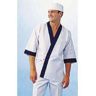 【まとめ買い10個セット品】はっぴ H-352(ホワイト) L【 はっぴ 作務衣 ユニフォーム 制服 】 【メイチョー】