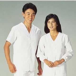 【まとめ買い10個セット品】男性用調理衣 半袖 FA-322 4L メイチョー