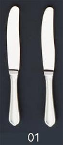 【まとめ買い10個セット品】SA18-8ピガール銀仕様 デザートナイフ(刃無)