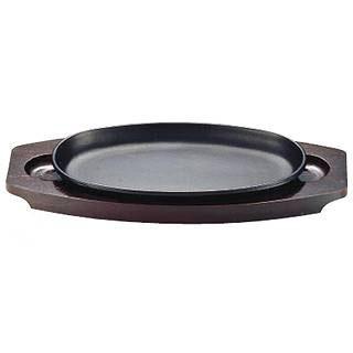 【まとめ買い10個セット品】『 ステーキ皿 』SA Feステーキ皿 小判型 IH対応