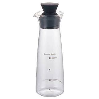 【まとめ買い10個セット品】耐熱ガラス製 ドレッシングボトル5014-BK メイチョー