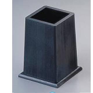 【まとめ買い10個セット品】SA黒・角型箸立N-7-4 メイチョー