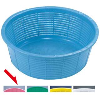 【まとめ買い10個セット品】『 プラスチック 丸ザル プラスチックざる 42.2cm 』サンコーざる 小 ピンク