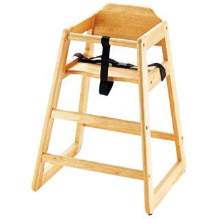 木製子供用ハイチェアー[スタッキング式] ナチュラル 【 業務用 】 【 送料無料 】【 家具 子供用椅子 ベビーチェア 】 【20P05Dec15】 メイチョー
