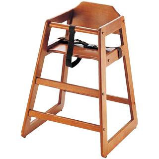 木製子供用ハイチェアー[スタッキング式] チェリー 【 業務用【 家具 子供用椅子 ベビーチェア 】 【メイチョー】