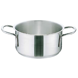 『 両手鍋 』ムラノ インダクション 18-8ステンレス 外輪鍋 [蓋無]40cm