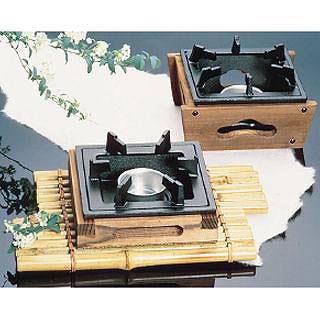 【まとめ買い10個セット品】『 コンロ(卓上) 』アルミ 民芸調コンロ[固形燃料皿付] 大[卓上鍋関連品]