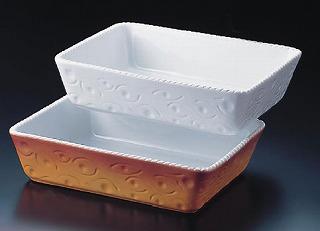 ロイヤル 長角深型グラタン皿 ホワイト PB520-40-10 【 業務用 】 【 送料無料 】【 ROYALE オーブンウエア 】 【20P05Dec15】 メイチョー