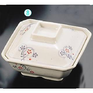 メラミン「かりん」角煮物鉢 身 M-332-K[蓋別売]  メイチョー