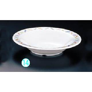 メラミン「リーフ」 19cmスープ皿 LE-7817 メイチョー