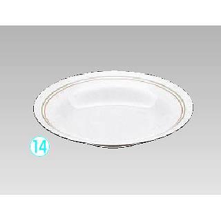 メラミン「オリーブ」 丸深皿 OL-7102T メイチョー