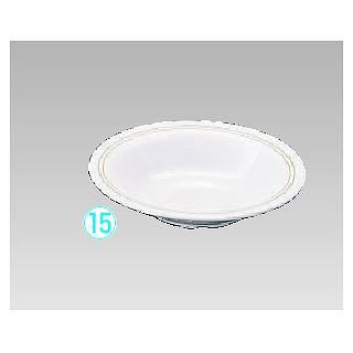 メラミン「オリーブ」 スープ皿19cm OL-7817 メイチョー