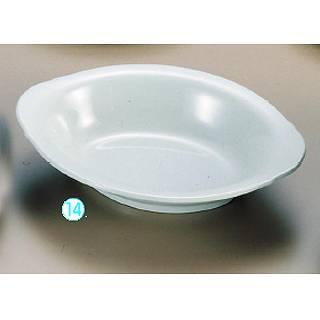 メラミン「青磁」 小判ベーカー皿 CS-45 [大]   メイチョー