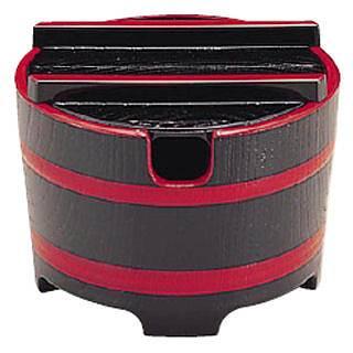 【まとめ買い10個セット品】桶型ガリ入れ 黒木目天朱 [切込有]1-511-6 メイチョー