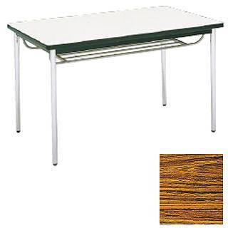 テーブル(棚付) MT2714  (A)チーク メイチョー