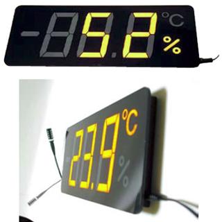 『 温度計 温度センサータイプ 』薄型温湿度表示器 メンブレンサーモ TP-300HA【 メーカー直送/代金引換決済不可 】