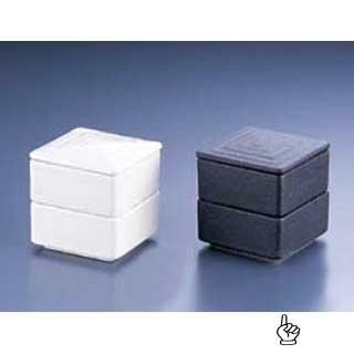 【まとめ買い10個セット品】【 角型 二段重 黒 Y-021 】 メイチョー