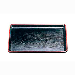 【まとめ買い10個セット品】ケヤキ会席盆 尺6寸 黒天朱 15021470