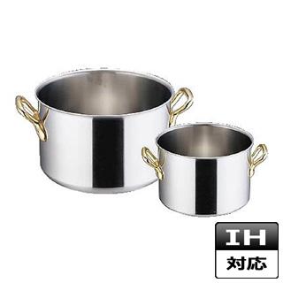 『 半寸胴鍋 IH IH対応 』エコクリーン スーパーデンジ 半寸胴鍋[蓋無] 30cmIH鍋半寸胴鍋IH対応