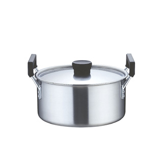 『 両手鍋 IH IH対応 』業務用 クラッド 実用鍋 24cm IH100V対応 IH200V対応