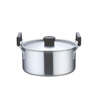 『 両手鍋 IH IH対応 』業務用 クラッド 実用鍋 27cm IH100V対応 IH200V対応