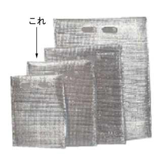 【まとめ買い10個セット品】保冷・保温袋 アルバック平袋(持ち手付) (50枚入) Mサイズ
