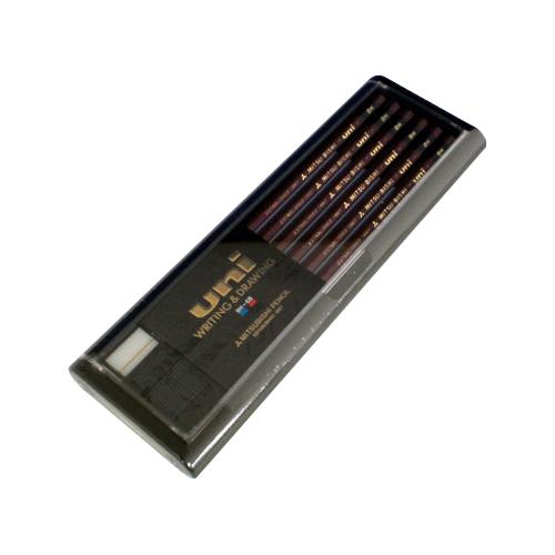 【まとめ買い10個セット品】鉛筆 ユニ スタンダード U8H 12本 三菱鉛筆【 筆記具 鉛筆 下じき 鉛筆 】【開業プロ】