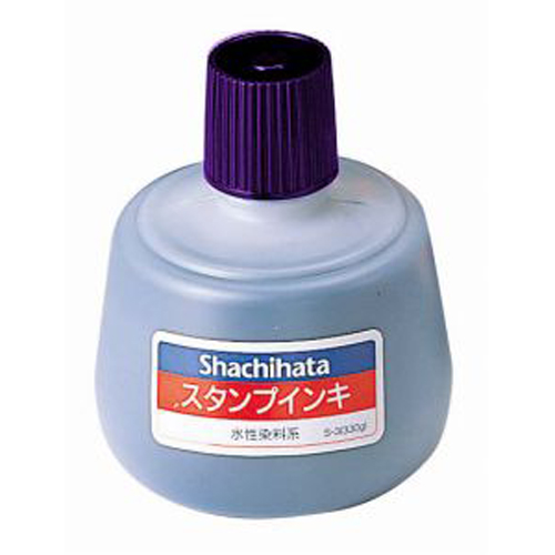 【まとめ買い10個セット品】 塗布用スタンプ台/スタンプインキ 水性染料系(ゾルスタンプ台専用) S-3 紫 【メイチョー】