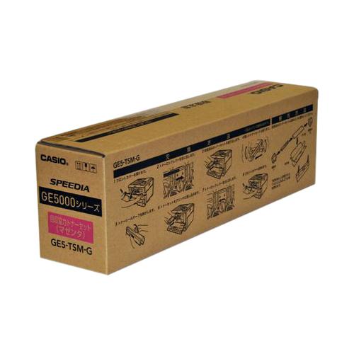 【まとめ買い10個セット品】 カラーレーザートナー GE5-TSM-G 回収協力トナーマゼンタ 【メイチョー】