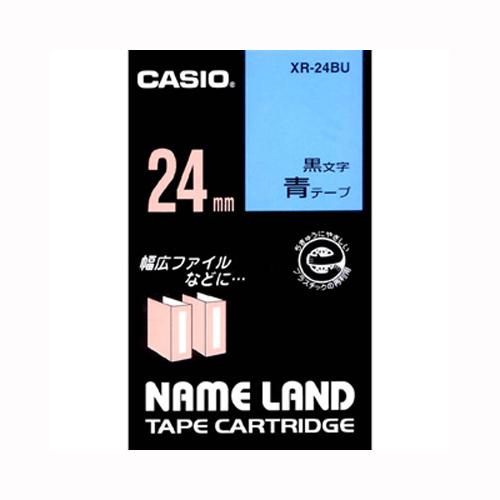 【まとめ買い10個セット品】 ネームランド用テープカートリッジ スタンダードテープ 8m/6m XR-24BU 青 黒文字 【メイチョー】