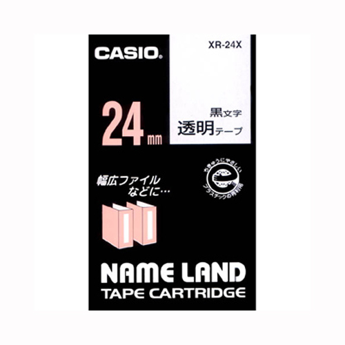 【まとめ買い10個セット品】ネームランド用テープカートリッジ スタンダードテープ 8m XR-24X 透明 黒文字 1巻8m カシオ【 オフィス機器 ラベルライター ネームランドテープ 】【開業プロ】