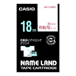 誠実 【まとめ買い10個セット品】ネームランド用テープカートリッジ 布転写テープ 5m XR-118RD 赤文字 1巻5m 1巻5m 布転写テープ カシオ 5m【開業プロ】, Deff:1088aa85 --- iphonewallpaper.site