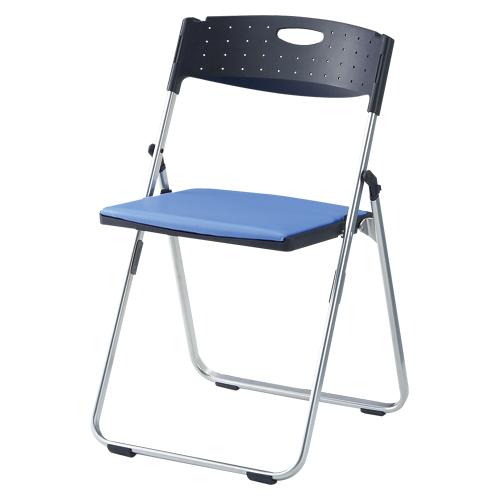 【まとめ買い10個セット品】スチール折りたたみ椅子 CAL-XSシリーズ(スチール/レギュラータイプ) CAL-XS02M-V-BL ブルー 1脚 アイリスチトセ 【メーカー直送/代金引換決済不可】【開業プロ】