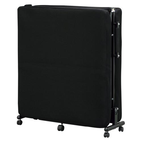【まとめ買い10個セット品】 折りたたみベッド OTB-TR ブラック 【メイチョー】