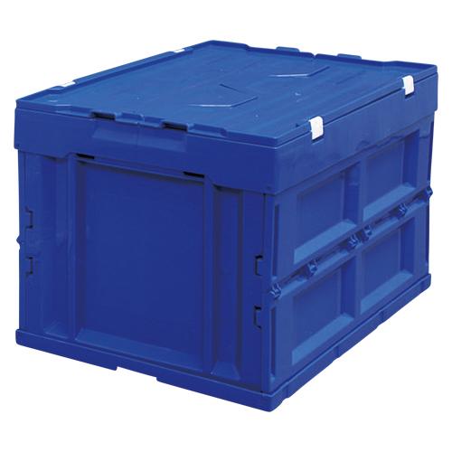 【まとめ買い10個セット品】ハード折りたたみコンテナフタ一体型 ブルー HDOH-50L ブルー 1個 アイリスオーヤマ【開業プロ】
