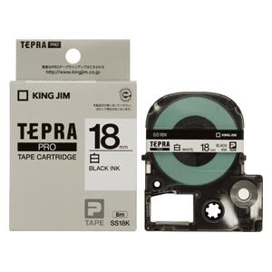 【まとめ買い10個セット品】「テプラ」PRO SRシリーズ専用テープカートリッジ 白ラベル 8m SS18K 白 黒文字 1巻8m キングジム【 オフィス機器 ラベルライター テプラテープ 】【開業プロ】