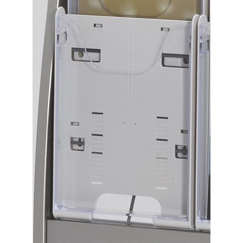 【まとめ買い10個セット品】 パンフレットスタンド パンフレットケース PCS-2-W ホワイトグレー 【メイチョー】