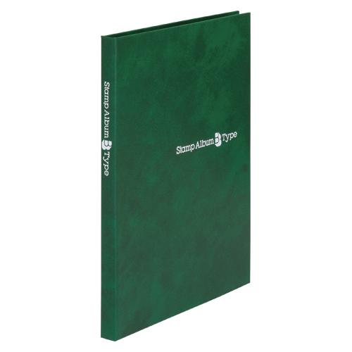 【まとめ買い10個セット品】スタンプアルバムBタイプ A5判タテ型 SB-20N-03 緑 1冊 テージー【開業プロ】