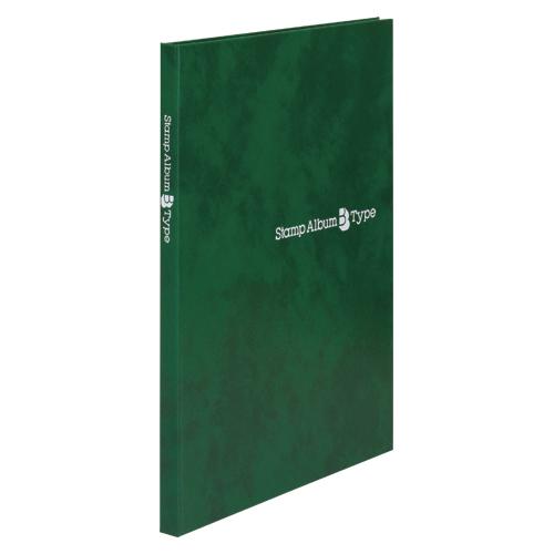 【まとめ買い10個セット品】スタンプアルバムBタイプ B5判タテ型 SB-30N-03 緑 1冊 テージー【開業プロ】